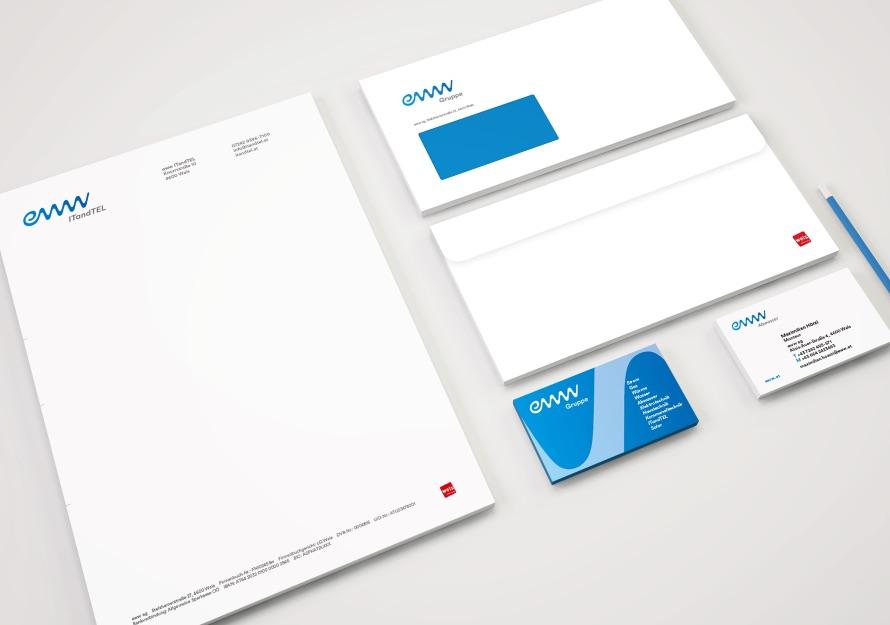 Q2 Werbeagentur, Eww, Corporate Design, Geschäftsdrucksorten