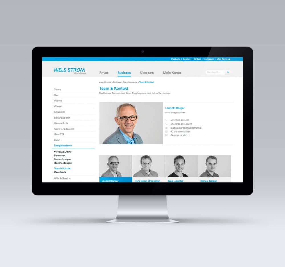 Q2 Werbeagentur, Eww, Website