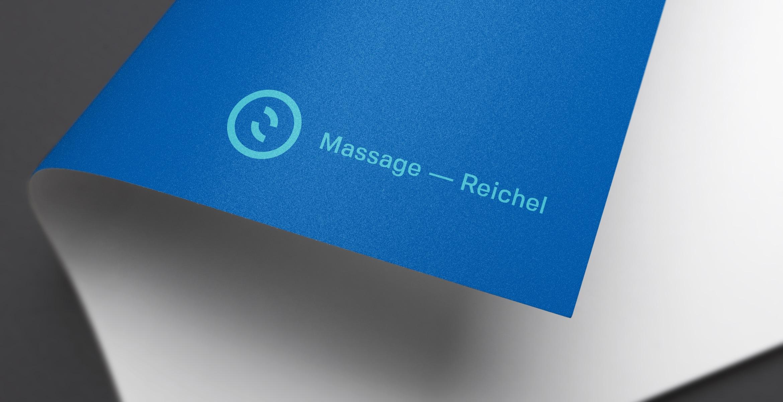 Q2 Werbeagentur, Massage-Reichel, Logo, Print