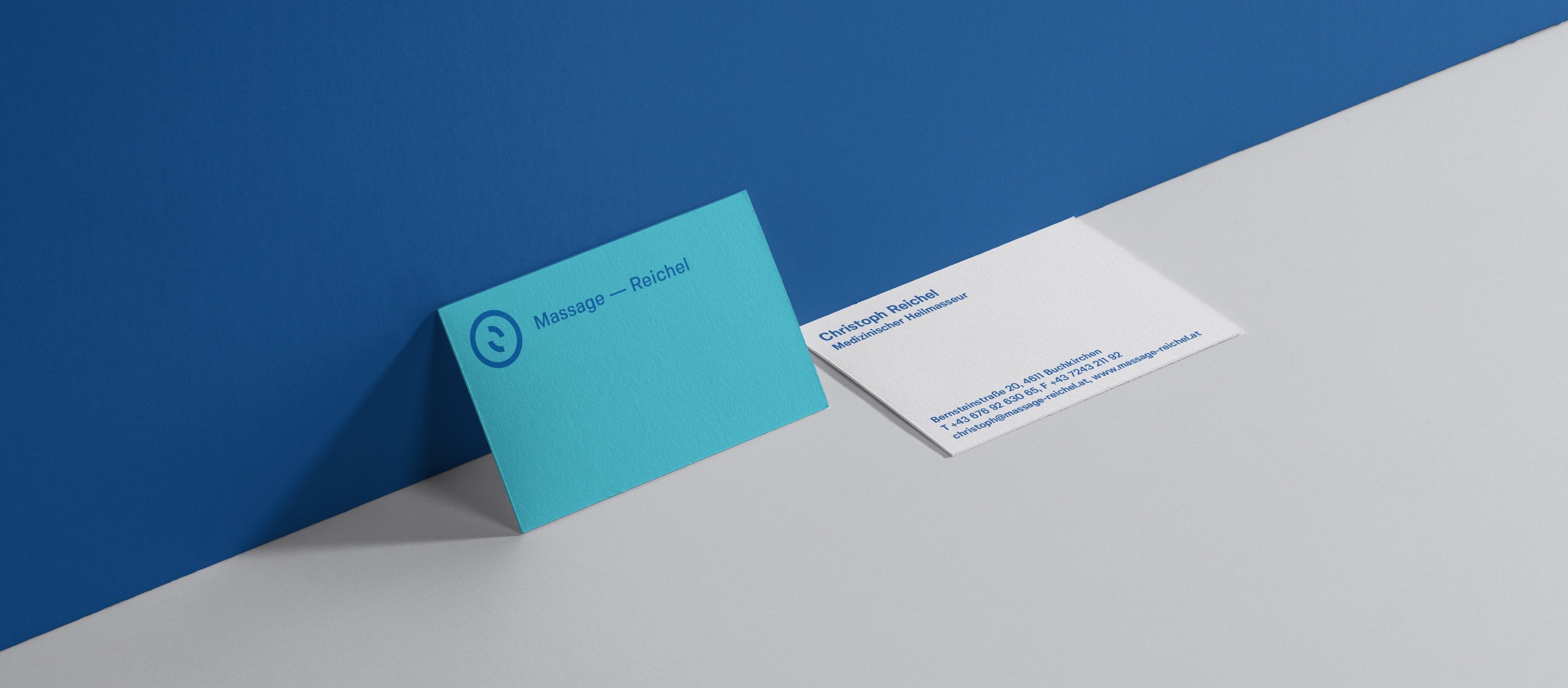 Q2 Werbeagentur, Massage-Reichel, Print