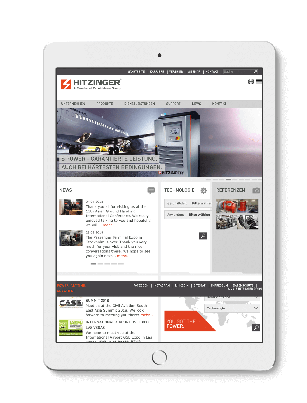 Q2 Werbeagentur, Hitzinger, Website