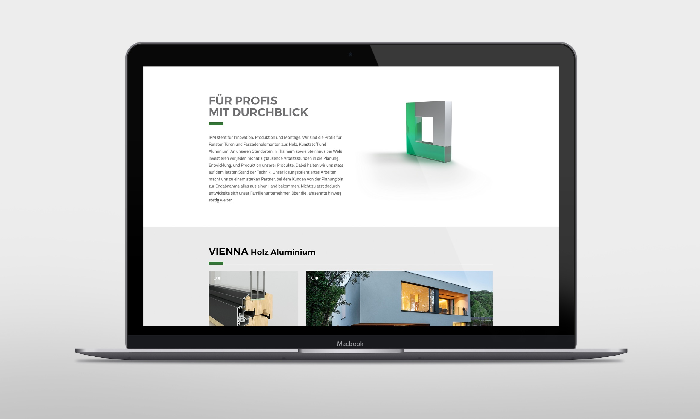 Q2 Werbeagentur, IPM, Website