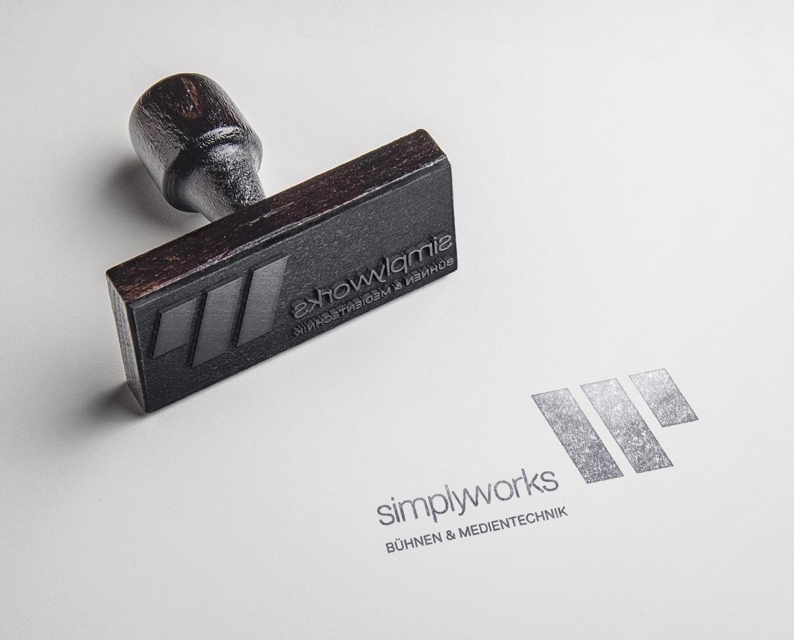 Q2 Werbeagentur, Simply-works, Stempel