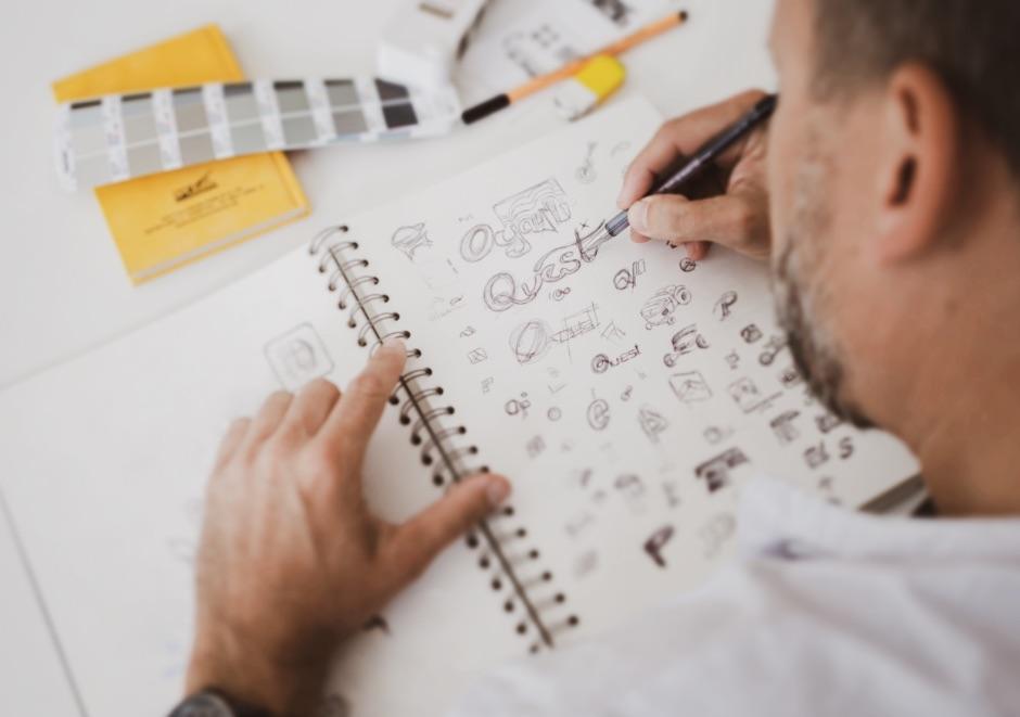 Q2 Werbeagentur, Wollen, Skizze