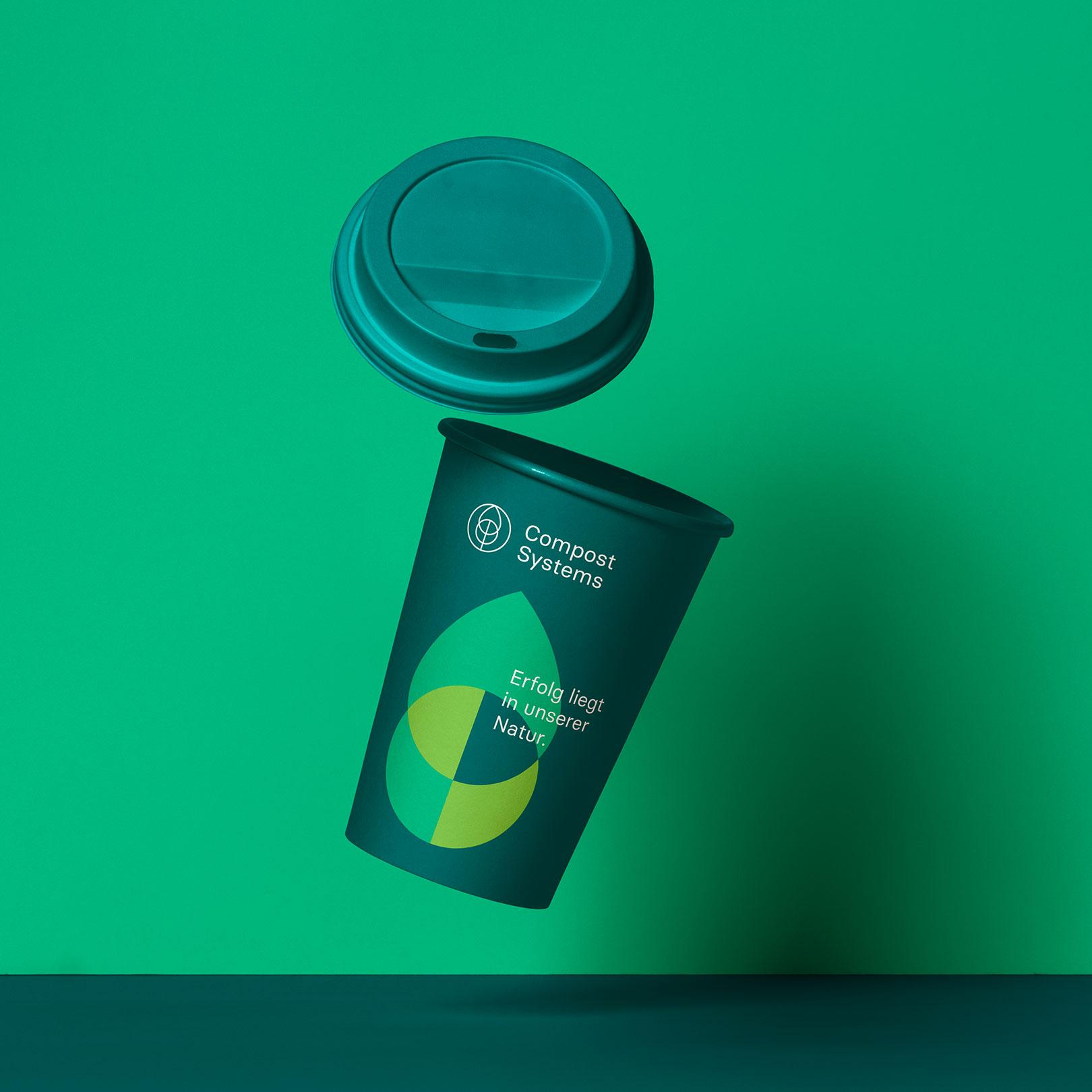 Q2 Werbeagentur, Compost Systems, Kaffeebecher