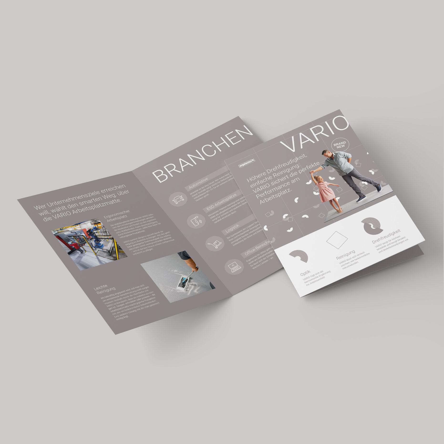 Q2 Werbeagentur, Kraiburg Matting Systems Vario, Print