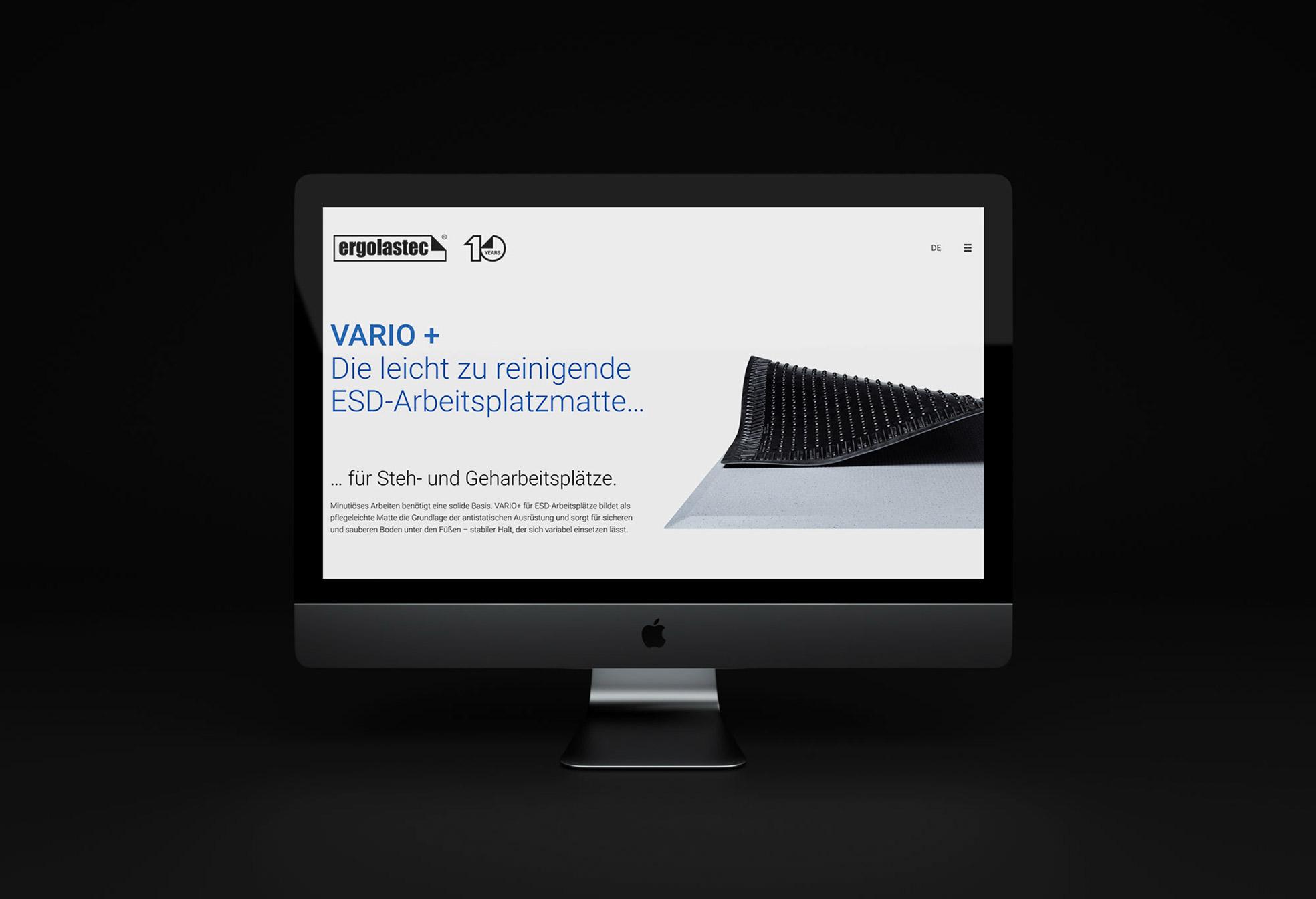 Q2 Werbeagentur, Kraiburg Matting Systems Vario, Webdesign